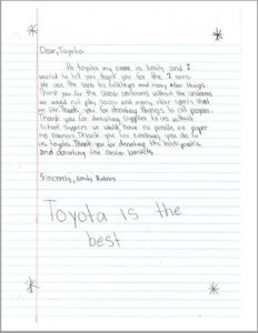 Toyota - Youth Letter 3 - All Peoples Community Center